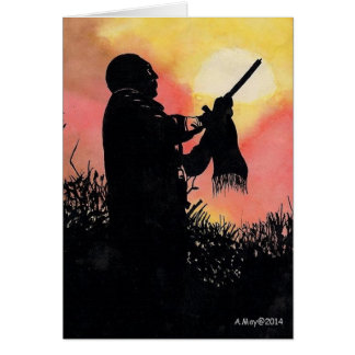Het inheemse Amerikaanse Lege Lied van de Avond Briefkaarten 0