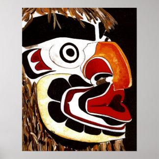 Het inheemse Amerikaanse Masker van de Ceder Poster
