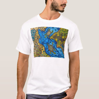 Het inheemse Schilderen van Schildpadden T Shirt