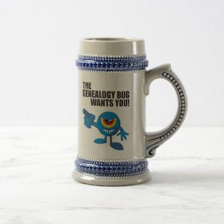 Het insect van de Genealogie wil u! Koffie Beker