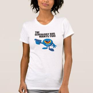 Het insect van de Genealogie wil u! Shirts
