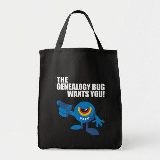 Het insect van de Genealogie wil u Draagtas