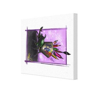 Het insect van de krabbel canvas print