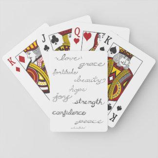 Het inspireren de Speelkaarten van Woorden