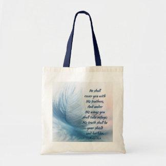 Het inspirerend 91:4 van de Psalm Uplifting onder Draagtas