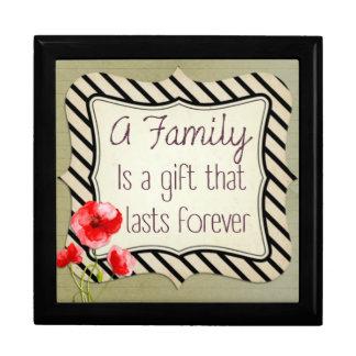 Het Inspirerend Citaat van de familie Decoratiedoosje
