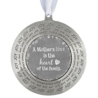 Het inspirerend Citaat van het Mamma Tin Rond Ornament