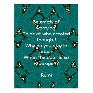 Het Inspirerend citaat van Rumi met StammenOntwerp Briefkaart