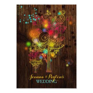 Het inspirerend Huwelijk van het Land van Hipster 12,7x17,8 Uitnodiging Kaart