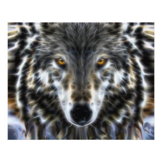 Het Inspirerend Portret van de wolf Footprint