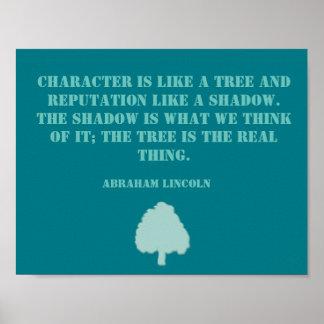 Het Inspirerend Poster van het Citaat van de boom