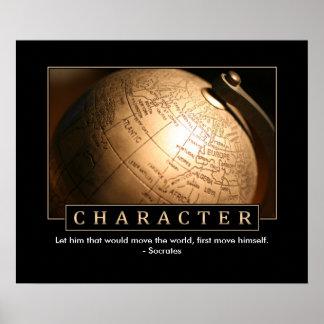Het Inspirerend Poster van het karakter