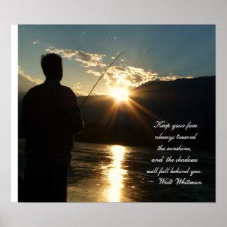Het inspirerend Silhouet van de Visserij van de Zo Poster