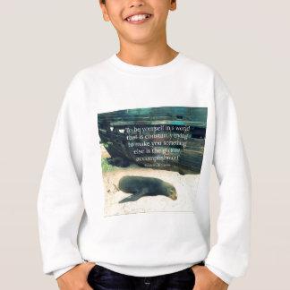 Het inspirerende thema van het het citaatstrand trui