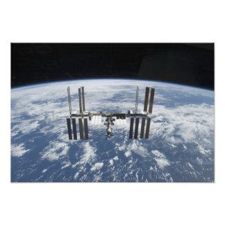 Het internationale Ruimtestation in baan Fotoprints