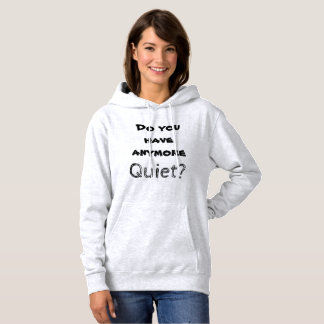 Het introvert spreekt: Stil? Hoodie