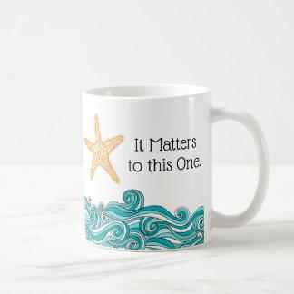 Het is aan Deze Één Zeester van belang Koffiemok