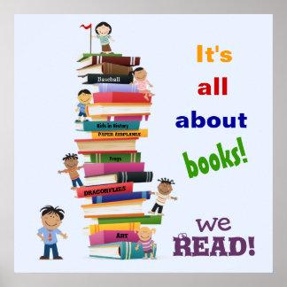Het is allen over het Poster van Boeken
