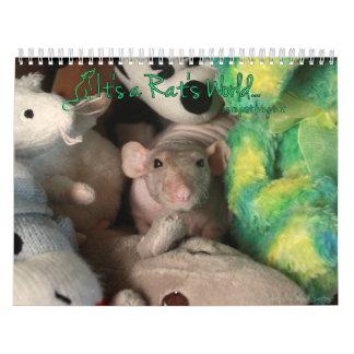Het is de Kalender van de Wereld van een Rat