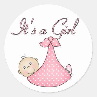 Het is de stickers van een Meisje