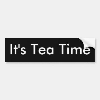 Het is de tijd-Bumper van de Thee sticker