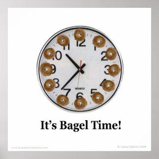 Het is de Tijd van het Ongezuurde broodje! Poster