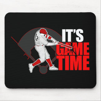 Het is de Tijd van het Spel - (Rood) Honkbal Muismatten