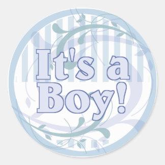 Het is een Aankondiging van de Geboorte van de Ronde Sticker