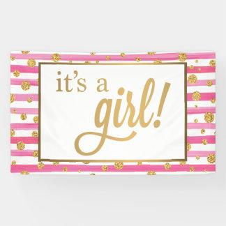 Het is een Banner van het Meisje - Nieuw Baby -