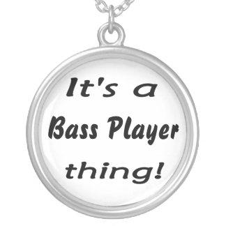 Het is een basspelerding! De houding van de basgit Zilver Vergulden Ketting