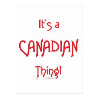 Het is een Canadees Ding! Briefkaart