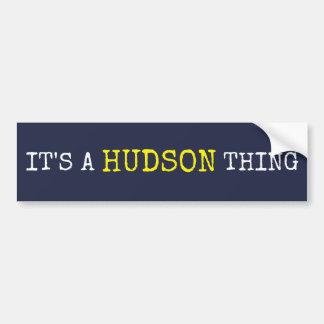 Het is een Ding Hudson Bumpersticker