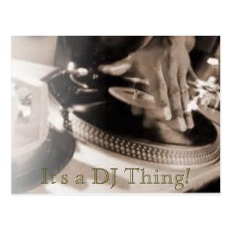 Het is een Ding van DJ! Briefkaart