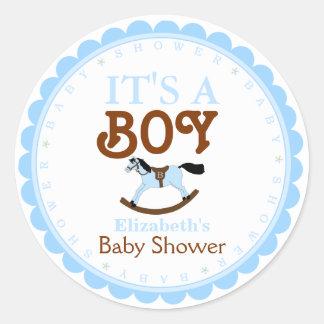 Het is een jongen-Baby Gunst van de Douche Stickers