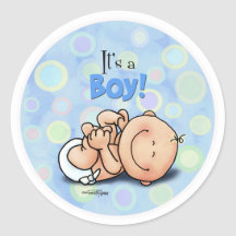 Het is een Jongen - de stickers van Gelukwensen