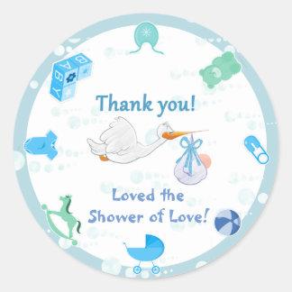 Het is een Jongen - Gepersonaliseerd Baby shower Ronde Sticker