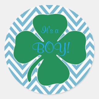 Het is een Jongen het Iers themed de Stickers van