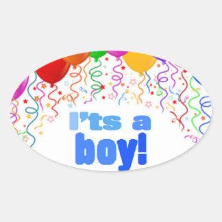 Het is een jongen! ovale stickers