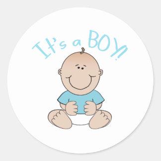 Het is een Jongen van het Baby! Ronde Sticker