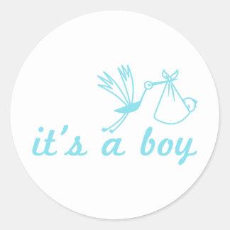 Het is een jongenssticker ronde stickers