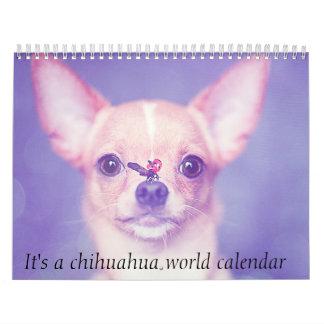 Het is een Kalender van de Wereld Chihuahua