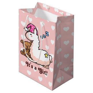 Het is een Lama van het Meisje! Medium Cadeauzakje