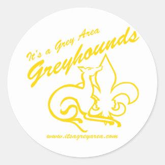 Het is een Logo van de Sporten van het Grijze Ronde Stickers