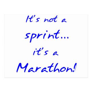 Het is een Marathon - blauw Briefkaart