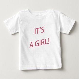 Het is een meisjesbaby baby t shirts