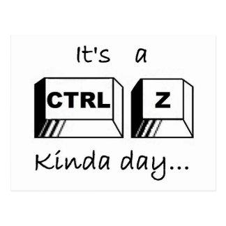 Het is een Soort CTRL-Z Dag Briefkaart