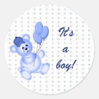 Het is een Sticker van het Baby van de Jongen