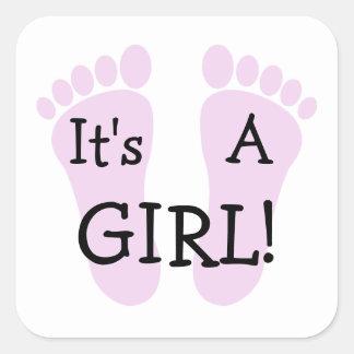 Het is een Sticker van het Meisje