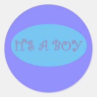 Het is een Verbinding van de Envelop van de Jongen Ronde Stickers