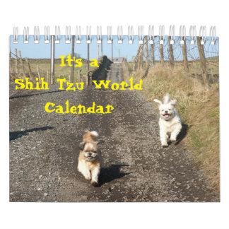 Het is een Wereld van Shih Tzu Kalender